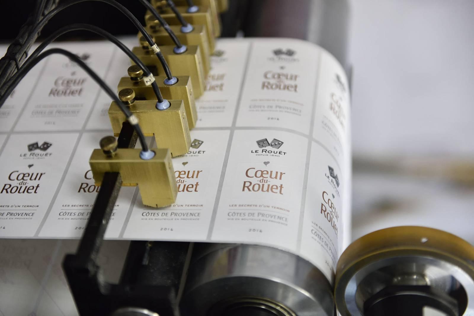 Etiquettes adhésives vinicole en Avignon