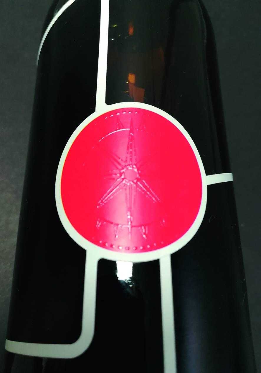 Vernis gonflant étiquette de bierre