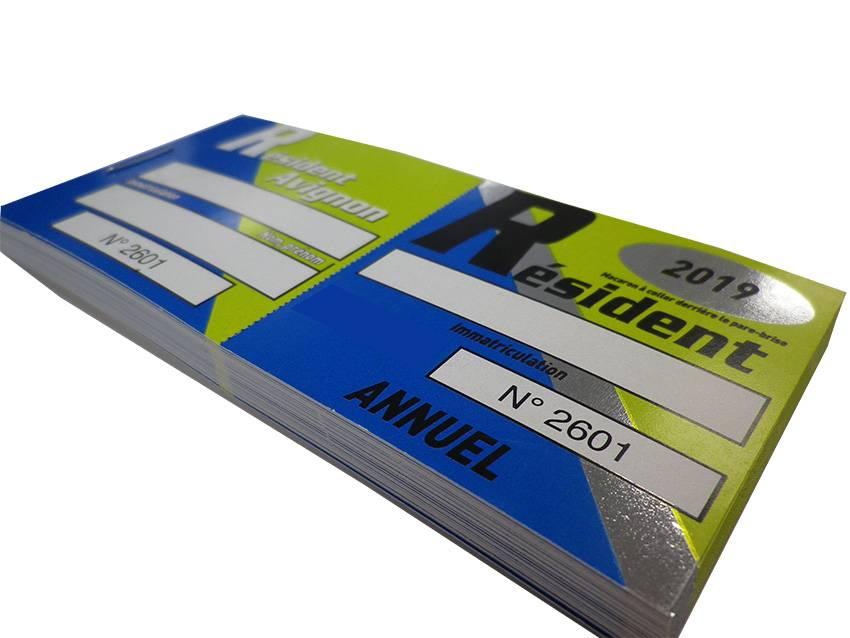Imprimerie pour Tickets de parkings avec dorure en Provence