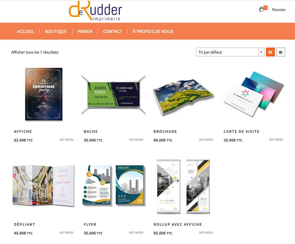 Site web to print imprimerie derudder